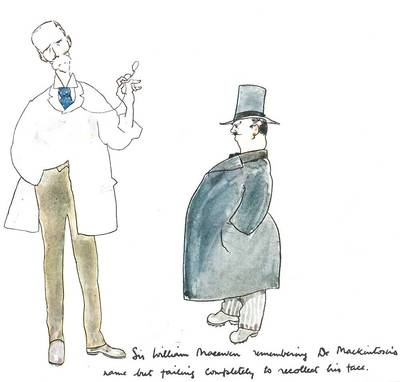 Caricature of Sir William Macewen & Donald James Mackintosh