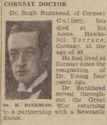 Dr Hugh Bankhead, obituary, 31 August 1940